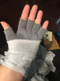 Making the bandages gloves