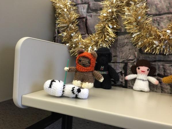 Ewok conquers Storm Trooper