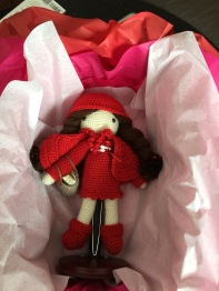 Doll with stand packaged for gifting