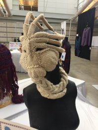 Facehugger by Katie Freeman won for Three Dimensional