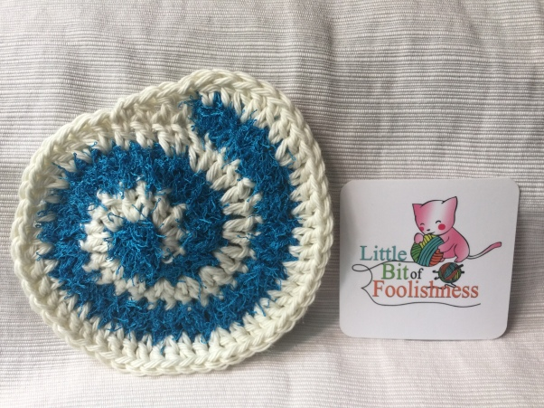 Spiral Scrubby Washcloth Pattern Little Bit Of Foolishness Extraordinary Crochet Spiral Scrubbies Pattern